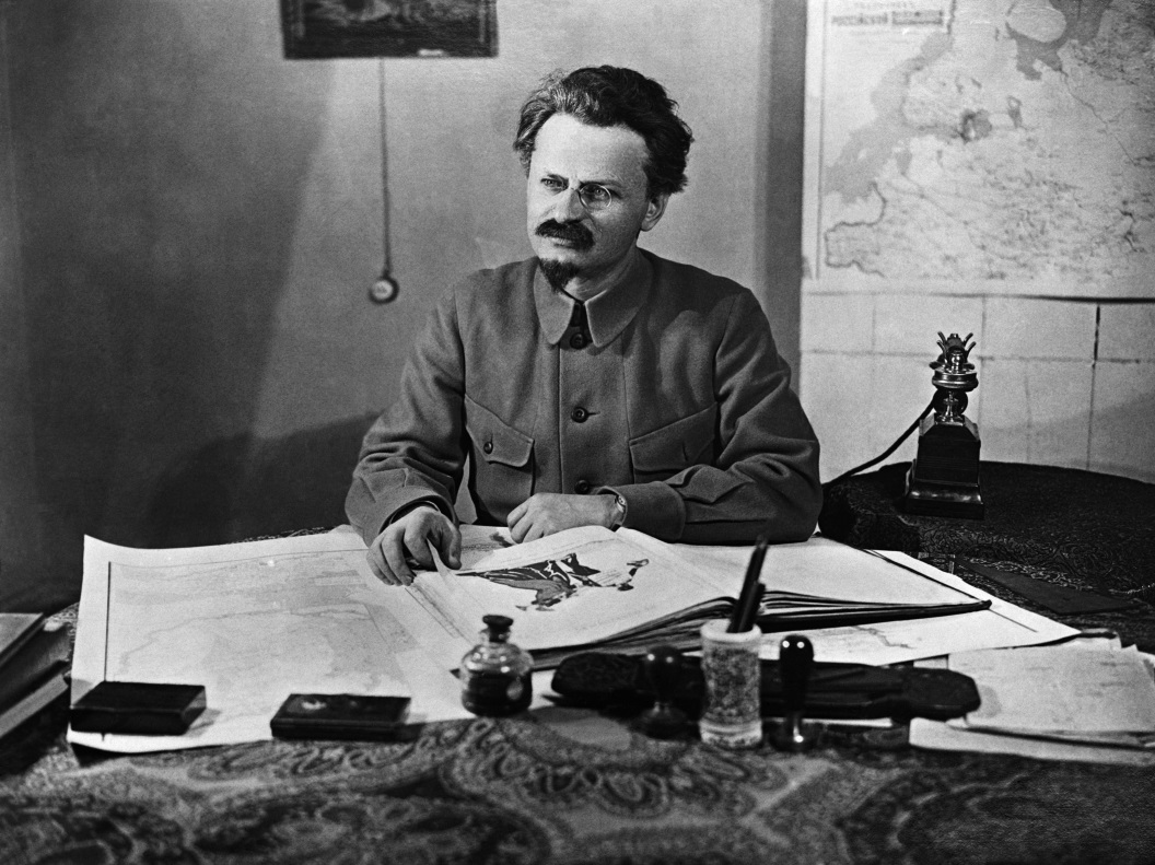Trotsky hard at work.jpg